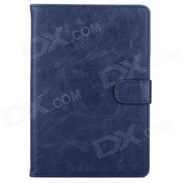 все цены на Mr.northjoe Stylish PU Leather Flip Open Case w/ Stand / Auto Sleep for IPAD MINI 1 / 2 / 3 - Blue онлайн