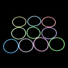 Multi-Funktions-Glow-in-the-Dark Bunte Hand Ring - Hellblau + Multi-Color (10 PCS)