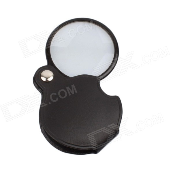 BIJIA 4X 60mm HD PU Fold-up Optical Lens Magnifer - Black