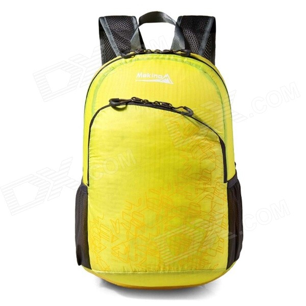 Makino 5504A Foldable Outdoor Sports Chinlon Backpack - Yellow (22L)