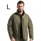 ESDY-0105 Outdoor Sports Waterproof Warm Polyester Jacket for Men - Amry Green (L)