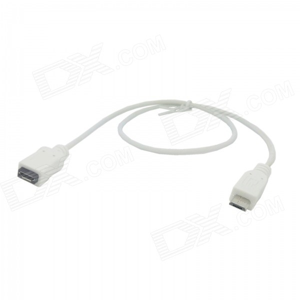 CY U2-096-WH Micro USB Male to Female Extension Cable - White (50cm)