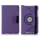 ENKAY 360' Rotary Protective Flip Open Case w/ Card Slots for Asus Fonepad 7 / ME372CG - Purple