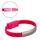 Wtitech W-08-1 Micro USB Male to USB Male Charging & Sync Bracelet Cable - Red (21cm)