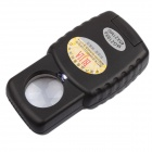 BIJIA 45 x 21mm HD High-powered Jewelry Appraisal Magnifier with Light - Black
