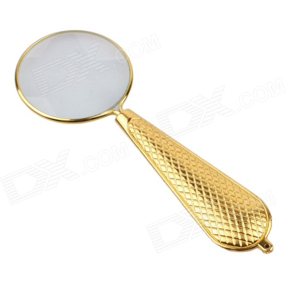 BIJIA 5 x 40mm 5X Full Metal Unilateral Reading Magnifier - Gold full page bookmark magnifier
