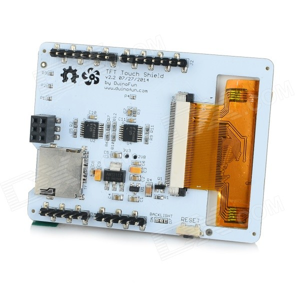 2.8 TFT LCD Resistive Touch Screen Module for Arduino - White (Works with Official Arduino Boards) alcohol sensor module for arduino works with official arduino boards