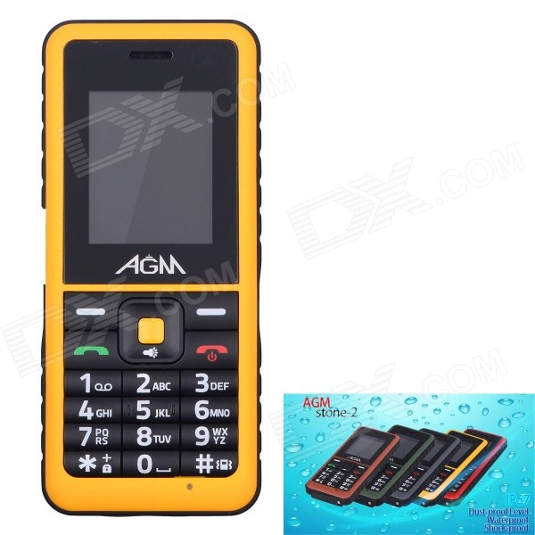 AGM Stone 2 Waterproof IP67 Quad-Band GSM Bar Mobile Phone w/ 1.77