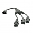 Buy CY PW-076 IEC C14 Male 3-C13 Female Y Type Splitter Power Extension Cable - Black (20cm)