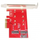 WBTUO LM-412N-V1.0 Desktop PCI-E +cable + Screwdriver- Red