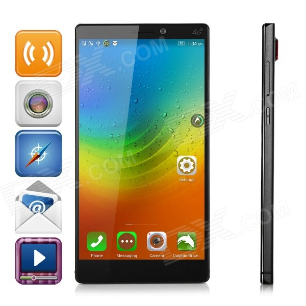 Lenovo K920 Android 4.4 Quad-core 4G Phone w/ 3GB RAM, 32GB ROM, GPS, WiFi, BT - Black lenovo x2 cu android 4 4 octa core 4g phone w 5 ips 2gb ram 32gb rom wifi gps golden
