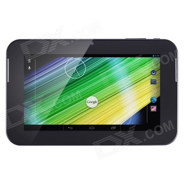 JKY A705 7 Dual-Core Android 4.2 Tablet PC w/ 4GB ROM, Camera / Wi-Fi / TF - Black acson j707 7 andorid 4 4 dual core tablet pc w 8gb rom wi fi tf hdmi black white