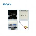 "JOOAN JA-525CRB-K 1/3"" CCD License Plate CCTV Camera w/ HSBLC / 2-IR-LED - White (PAL)"
