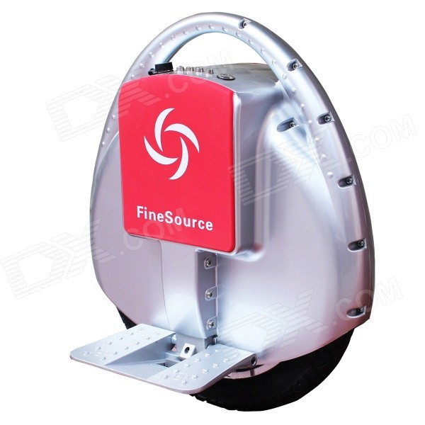 Fine Source FS-01 Electric Balancing Unicycle Wheelbarrow Monocycle - Silver + Red