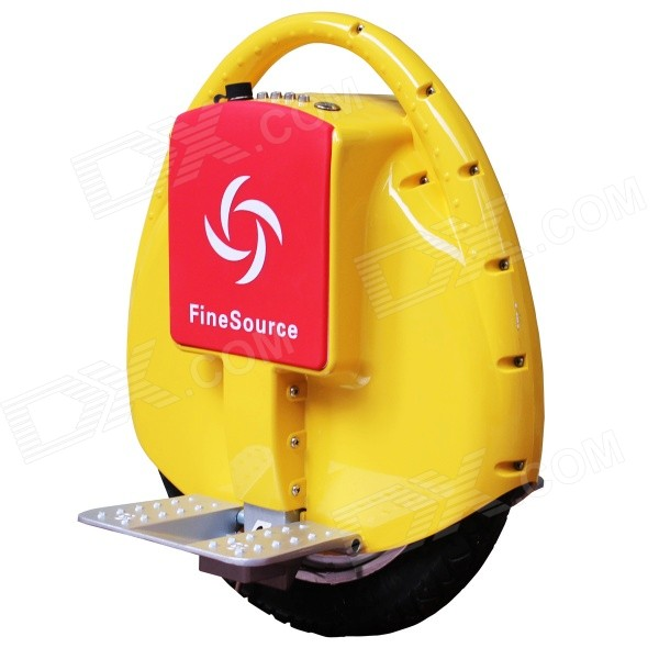 Fine Source FS-09 Electric Balancing Unicycle Wheelbarrow Monocycle - Yellow + Red - DXOther Sports Gadgets<br>Mainboard: Imported Mainboard Motor Power: 350W Battery Type: 60V 132WH Lithium Battery?Samsung? Max. Driving Speed: 18KM Max. Range: 20~25KM Life of Battery: More than 1000 cycles Max. Climbing Angle: &amp;lt;25 Degrees Max. Load Weight: 120KG Tire / Wheel: 14 Inch Rubber Tire Distance between Pedal and Ground: 11cm Full Charged Time: About 80 Minutes Charging Voltage: AC 220V 50/60Hz Tilt Protection: 45 degrees?solo wheel will stop working when tilt above 45 degrees? Speed Protection: &amp;gt;/=18km/h?start alerting and automatically slow down if above 12km/h? Working temperature: -10~40&amp;#39;C?recommending at 10~30&amp;#39;C?<br>