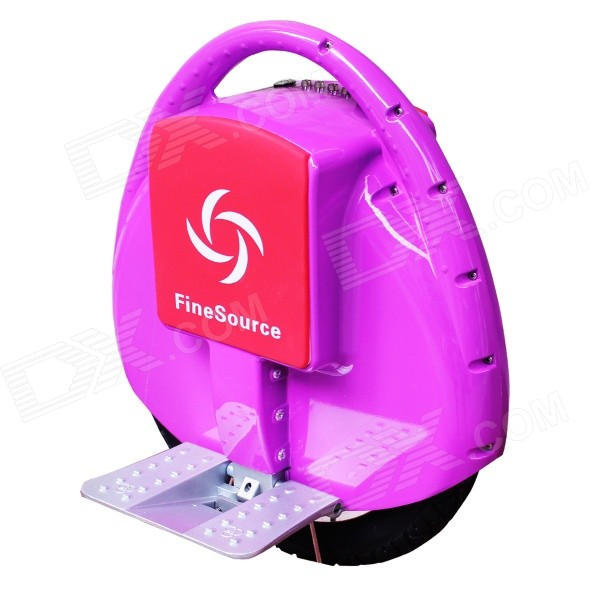 Fine Source FS-01 Electric Balancing Unicycle Wheelbarrow Monocycle - Purple + Red