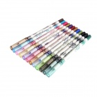 12-in-1 Makeup / Cosmetic Eyeliner Pencil Set - Multicolored