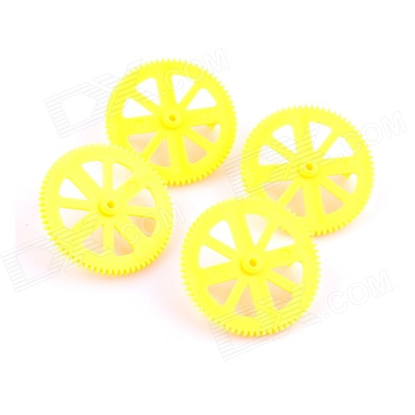 PANNOVO Pa12 Plastic Quadcopter Motor Pinion Gear + Shaft Set for Parrot AR Drone 2.0 - Yellow