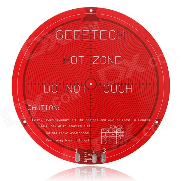 Geeetech Round PCB Heatbed for Delta Rostock mini 3D Printer (12V) - Red