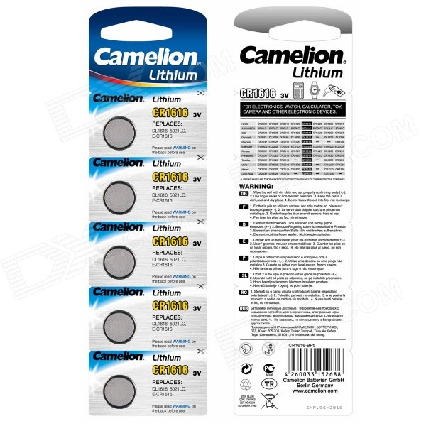 где купить Camelion 3V CR1616 Lithium Button Battery (5 PCS) дешево
