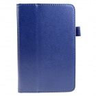 Protective Flip-Open PU Leather Case w/ Stand for Amazon Kindle Fire HD 6 - Deep Blue