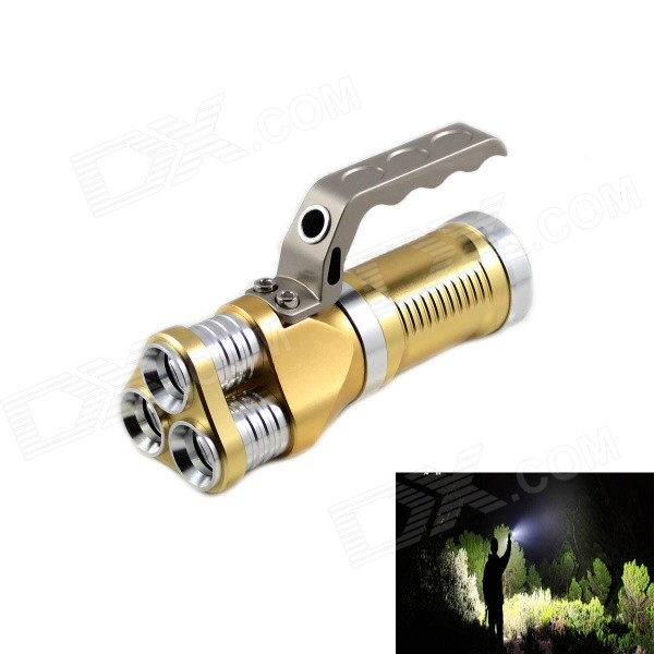 KINFIRE KF-300 High Power 3-LED 1800lm 3-Mode White Flashlight w/ Car Charger - Gold (3 x 18650) антенна texas 1800 power где