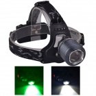 SingFire SF-647G 2-LED 5V USB Zooming White + Green 3-Mode 250lm Hunting Headlamp - Grey (2 x 18650)