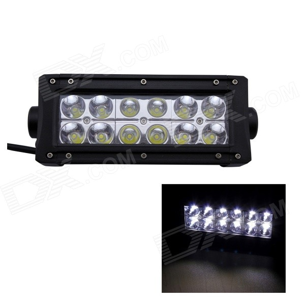 GULEEK 36W Type/B 2520lm  6000K 12-LED White Spot Light Working Lamp Bar for Car / Boat guleek 60w type h 4200lm 6000k 6 led white flood spot light worklight bar for car boat