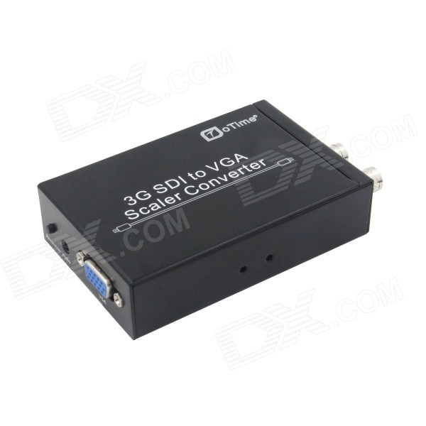 oTime OT-S006 3G-SDI to VGA Scaler Converter - Black lkv364 sdi to bnc repeater 1080p 720p sd sdi hd sdi 3g sdi distribute to 2 simultaneous sdi outputs sdi converter splitter