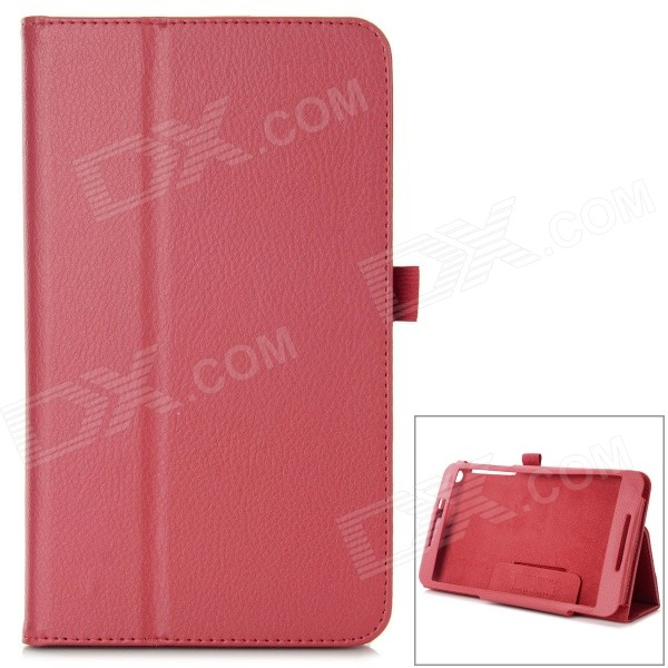 Protective Flip Open PU Case w/ Stand / Auto Sleep for 8 Asus Fonepad 8 (FE380CG) - Red