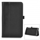 Protective PU Flip-Open Case w/ Stand for Asus Fonepad 8 / FE380CG - Black