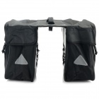 YANHO YA029 600D Oxford Fabric Cycling Bike Back Seat Rack Bag - Black