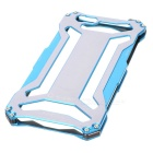 Protective Aluminum Alloy Hollowed Back Case for IPHONE 6 - Blue + Grey