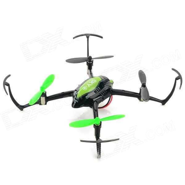 2.4GHz 4-CH 6-Axis UFO R/C Quadcopter w/ Gyroscope / 3D Tumble - Green + Black