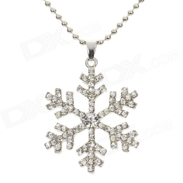Women's Snowflake Style Rhinestone Inlaid Zinc Alloy Necklace - Silver 40cm 12w acryl aluminum led wall lamp mirror light for bathroom aisle living room waterproof anti fog mirror lamps 2131