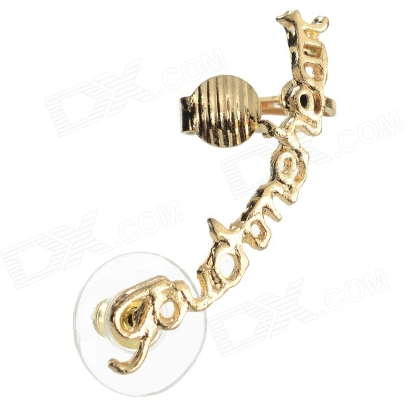 SHIYING A6517 Women's Letter Style Zinc Alloy Ear Stud - Golden