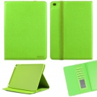 ENKAY Protective Flip Open PU Case w/ Stand / Card Slots / Auto Sleep for IPAD AIR 2 - Green