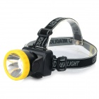 182lm 1-Mode Cold White LED Fishing Camping Cycling Light Headlamp - Black + Yellow (3 x AA)