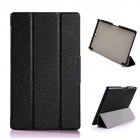 Protective PU Leather + PC Case w/ Stand for Sony Xperia Z3 Tablet Compact - Black