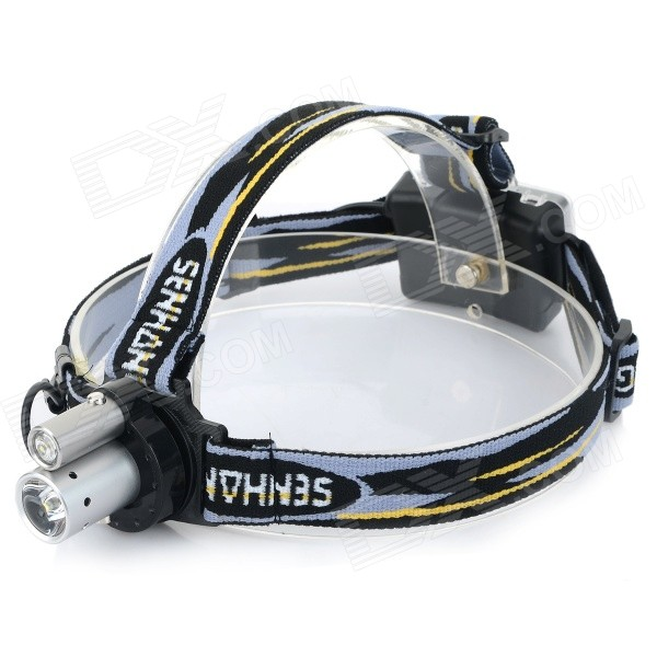 320lm 1-Mode Cool White LED Fishing Camping Light Headlamp - Black + White (3 x AA)