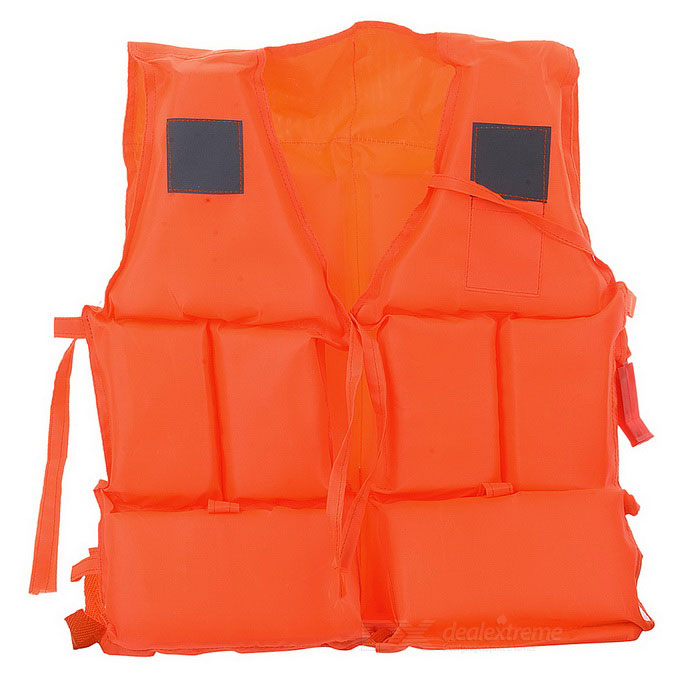 Life-Saving Vest Jacket w/ Whistle for Children - Orange