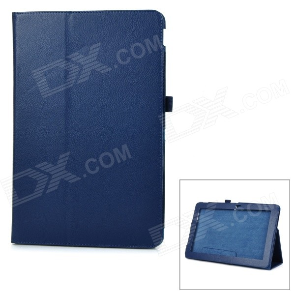 Protective Flip-Open PU Case Cover w/ Auto Sleep / Stand for Asus T200ta - Blue protective flip open pu full body case cover w auto sleep stand for acer a3 a20 blue