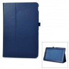 Protective Flip-Open PU Case Cover w/ Auto Sleep / Stand for Asus T200ta - Blue
