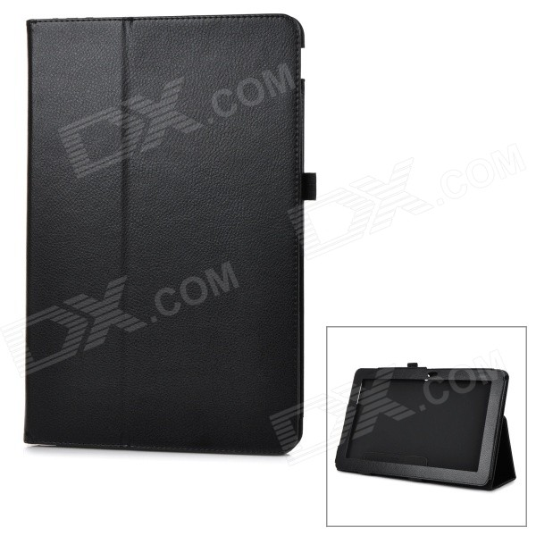 Protective Flip-Open PU Case Cover w/ Auto Sleep / Stand for Asus T200ta - Black украина вибратор ив101 цена