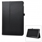 Protective Flip-Open PU Case Cover w/ Auto Sleep / Stand for Asus T200ta - Black