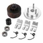Replacement Aluminum Alloy Clutch Set for HSP 1:8 Model Cars - Black + Silver