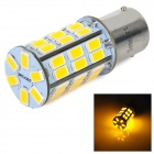 1156 5W 270lm 3500K 2-modus 42-SMD 5630 LED Warm Wit Auto Brake Light / Backup Lamp (DC / AC 12 ~ 16V)