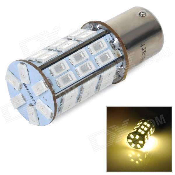 1156 5W 270lm 560nm 2-Mode 42-SMD 5630 LED Yellow Car Brake Light / Backup Lamp (DC / AC 12~16V)