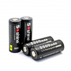 Soshine 26650 3.7V 5500mAh Li-ion Batteries w/ PCB Protection - Black (4 PCS)