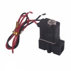 "12V DC 1/4"" N/C Normally Closed Plastic Electric Air Gas Water Solenoid Valve - Black"